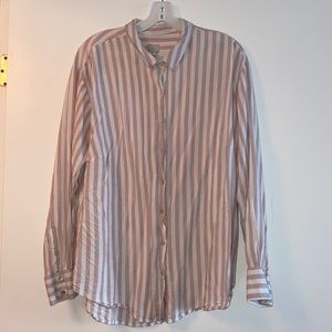 H&M Stripped Long Sleeve Button down